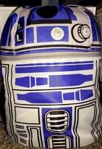 """Disney Star Wars Blue White R2D2 On Patrol Kids' Backpack 16"""" Back To Sc... - $12.00"""