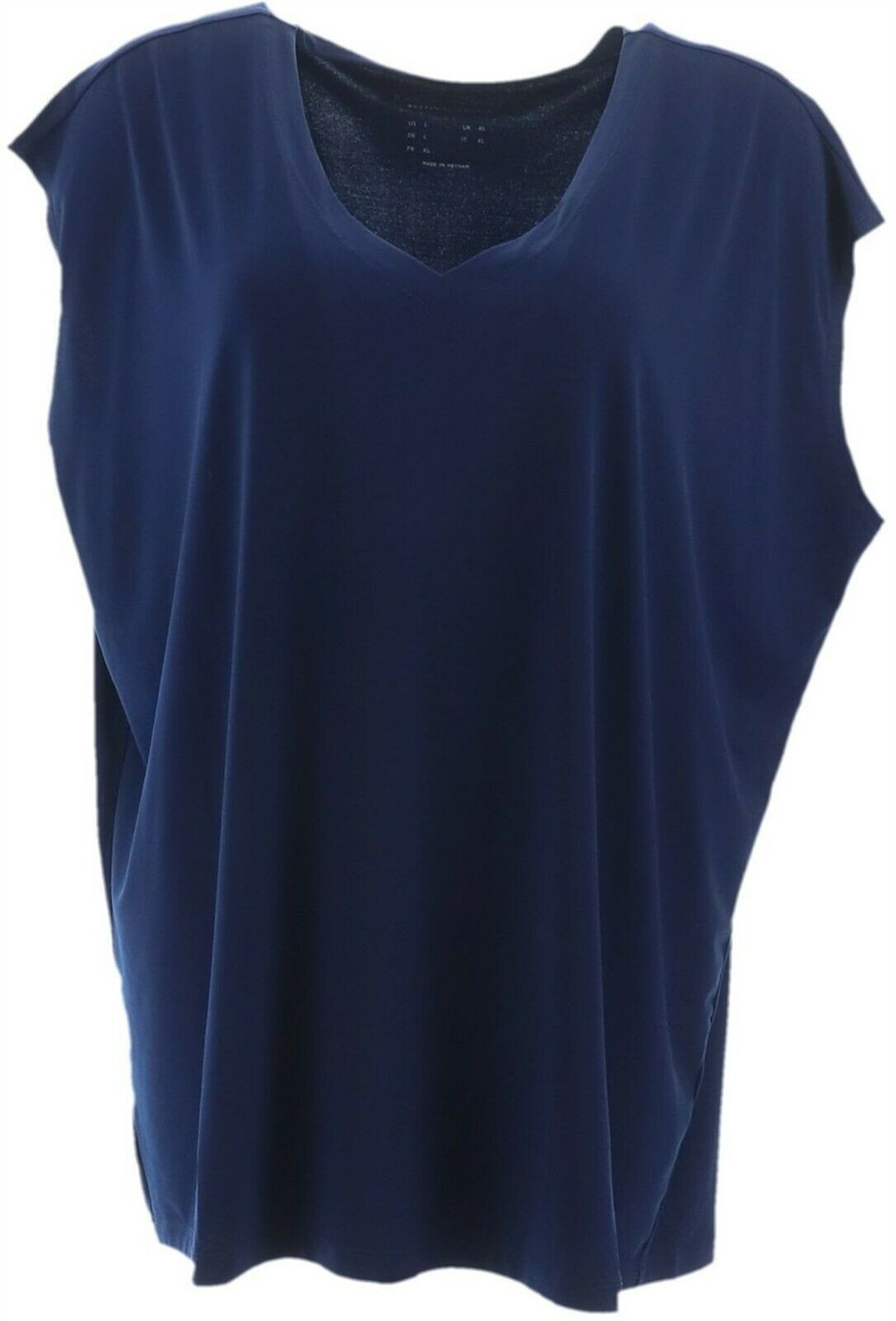 Primary image for Susan Graver Modern Essentials Liquid Knit V-Neck Top Sapphire 2X NEW A352202