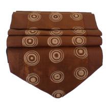 TIL074 brown squiggle circle runner tablecloth tablerunner silk 150x30cm... - $17.99