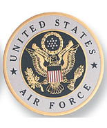 "US Air Force Medallion - 2"" dia. Aluminium Disc, Embossed Litho Printed, Peel an - $6.00"