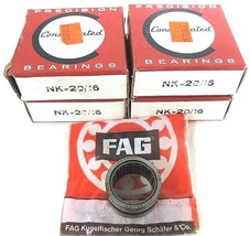 LOT OF 4 NIB CONSOLIDATED BEARINGS NK-20/16 BEARINGS 20MM ID 28MM OD 16MM WIDTH