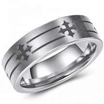 coi Jewelry Tungsten Carbide Cross Wedding Band Ring-373 - $69.99