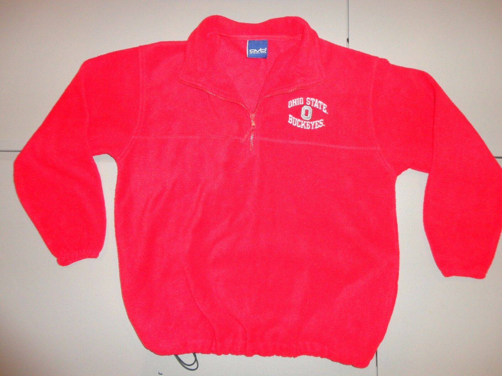 Ohio State Buckeyes NCAA Red Embroidered Fleece Pullover Jacket Youth L (14-16) - $24.39
