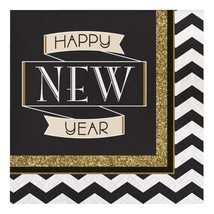 Midnight Celebration Lunch Paper Napkins, 16 Ct per package - $4.06