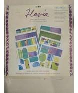 "COLORBOK Flavia Mint & Moonlight 12""  X 12"" Punch out Scrapbook Paper Ki... - $14.84"