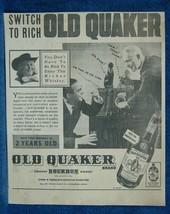 1937 Old Quaker Bourbon Whiskey Newsp. Ad - Old Radio & Football Game Li... - $10.88