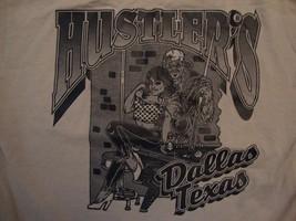 Sammie Hustler's Car Club Dallas Texas Souvenir Green T Shirt Size M - $16.82