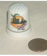 Atlanta Georgia City Skyline Buildings Ceramic Porcelain Sewing Knitting... - $9.88