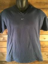 Vintage Nike V-Neck Blue T-Shirt Size S - $24.74