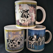 Cow cups mug glazed porcelain Sherwood music art humorous designs China ... - $3.39