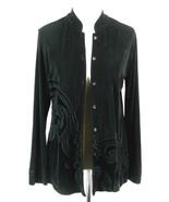Chico's Travelers Jacket Size 1 (M) Velvet Appliques - $29.99