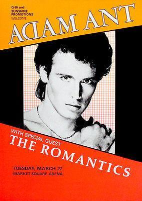 Primary image for Adam Ant - The Romantics - 1984 - Market Square Arena - Concert Poster