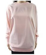 Lauren Ralph Lauren Twill-Front Silk-Blend Sweater Pink Size Small - $61.38