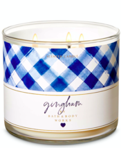 Bath & Body Works Gingham Three Wick 14.5 Ounces Scented Candle - $22.49