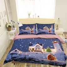 3D Christmas  Xmas 32 Bed Pillowcases Quilt Duvet Cover Set Single Queen King AU - $64.32+