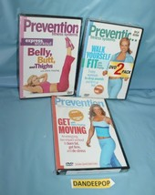 4 Assorted Prevention Exercise Fitness Workout DVD Movies Sealed - $39.59