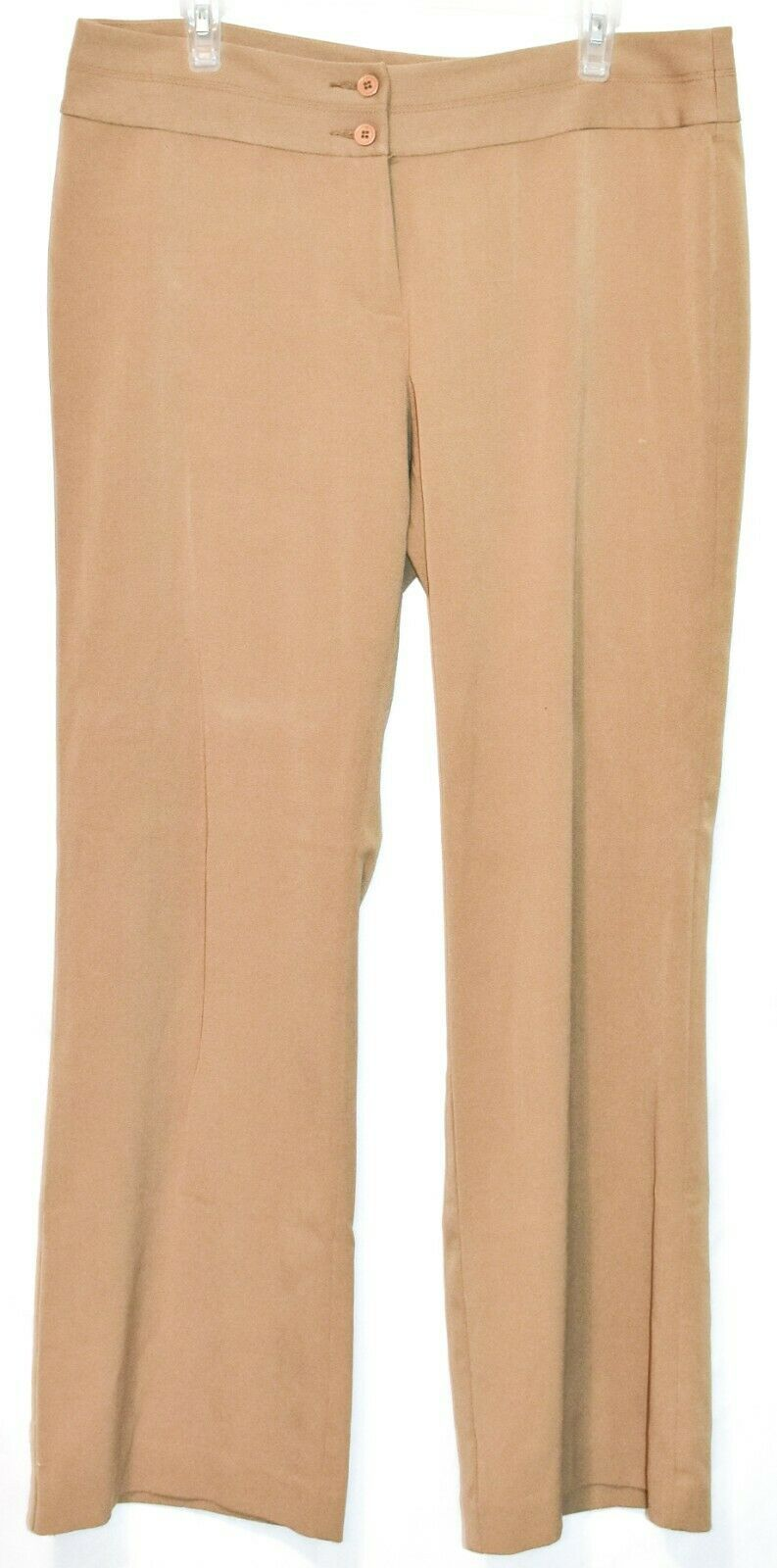 Axcess by Liz Claiborn Women's Tan Khaki Stretch Dress Pants Slacks Size 14