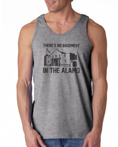 066 Theres no Basement in the Alamo Tank Top funny movie Texas 80s vintage - $16.00+