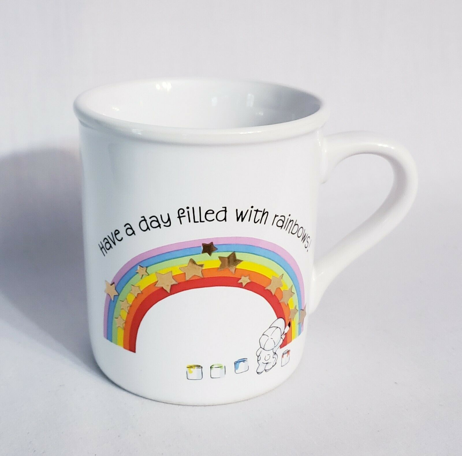 Primary image for Hallmark Mug Mates Day Filled with Rainbows and With Love 1983 Coffee Mug Cup