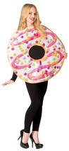 White Frosted Doughnut Donut Adult Costume Food Halloween Party Unique G... - $54.99