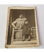 Cabinet card photograph antique ephemera photo picture 1800s mother son ... - $16.34