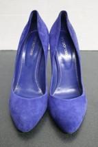 Women's Purple/Violet Blue Suede Sergio Rossi Stilleto Pumps (39) Heels Italy image 2