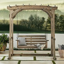 Backyard Discovery Odessa Pergola Swing Country Garden Farmhouse FREE SH... - £901.66 GBP