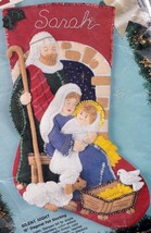 Bucilla Silent Night Manger Nativity Holiday Christmas Felt Stocking Kit 83007 - $47.95