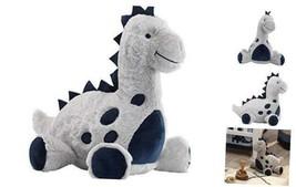 Lambs & Ivy Baby Dino Blue/Gray Plush Dinosaur Stuffed Animal Toy - Spike - $20.63