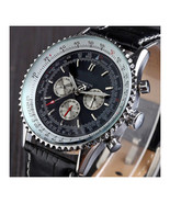 Elegant Men's Luxury Automatic Chronograph Watch in Stainless Steel and ... - $61.66