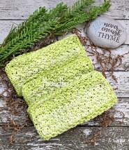 Handmade Kitchen Dish Cloths Honeydew Lime Green Eco Friendly Crochet Se... - $18.75