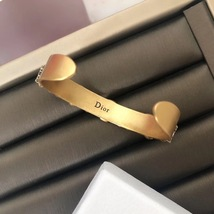 AUTH Christian Dior 2019 J'ADIOR CRYSTAL AGED GOLD BRACELET CUFF BANGLE image 5
