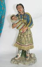 Western figurine Native Maiden with Baby THE FIRST AMERICANS Circle of Life - $8.44