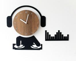 Moro Design DJ Wall Clock Non Ticking Silent Quartz Decorative Modern Clock Deco image 2