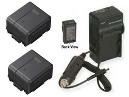 2 Batteries + Charger For Panasonic VW-VBG130PPK VW-VBG130PP9 AG-HMC40P AG-HMC41 - $48.59