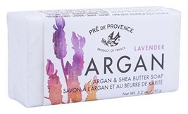 Pre De Provence French Argan & Lavender Shea Butter Bar Soap 150g Gram 5... - $8.49