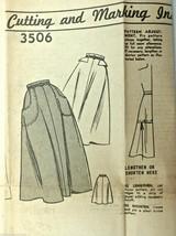 Vintage 1950s Sewing Pattern #3506 Skirt Size 28 Philadelphia Inquirer - $19.67