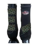 Large Hilason Infra-Tech Horse Medicine Sports Boots Rear Hind Leg U-TC-L - $64.30