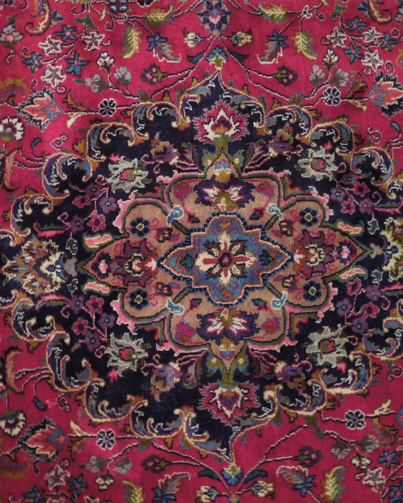 Red Wool Rug 10' x 12' Scarlet Vivid Original Traditional Persian Handmade Rug image 11