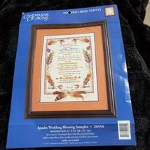 Candamar Designs Apache Wedding Blessing Sampler Stamped Cross Stitch Ki... - $21.48