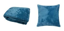 Zig Zag Verde Blu Super Soffice Coperta Stile Throw di Lana Pecora & - ₹1,233.83 INR