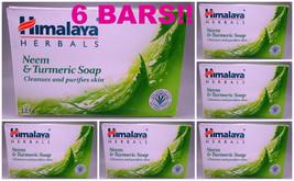 6 BARS! Himalaya Herbals Neem & Turmeric Soap Cleanses & Purifies Skin U... - $20.00