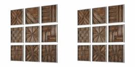 "EIGHTEEN NEW 13"" AGED RUSTIC WOOD WALL PANELS WALL ART MODERN SILVER LEA... - $655.60"
