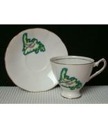 Elizabethan NEWFOUNDLAND CANADA Bone China TEA CUP & SAUCER EUC - $8.24