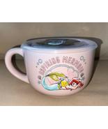 Disney's Ariel & Flounder Ceramic Soup Mug 24oz with Pressure Release Li... - $22.99