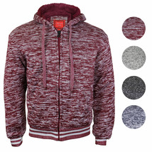 Maximos Men's Athletic Soft Sherpa Lined Fleece Zip Up Hoodie Sweater Jacket