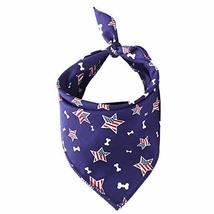 NACOCO Pet Bandana Bone American Flag Square Scarf Dog Triangle Bib Poly... - $12.27