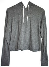 Mossimo Gray Grey Variant Hooded Long Sleeve Shirt Top Size S