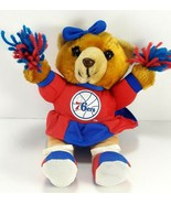 "Philadelphia 76ers NBA Basic Logo Plush Cheerleader Bear With pom poms 8"" - $14.84"