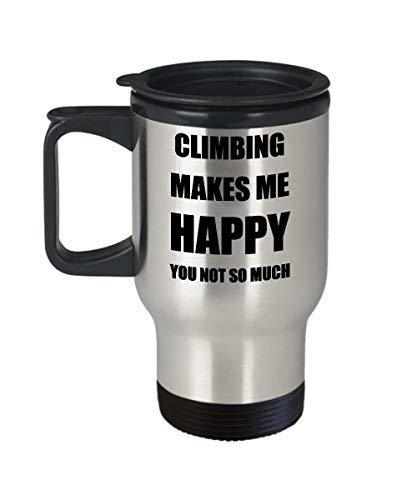 Climbing Travel Mug Lover Fan Funny Gift Idea Novelty Gag Car Coffee Tea 14oz St